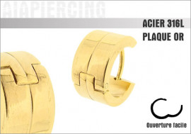 Boucle d'oreille anneau doré