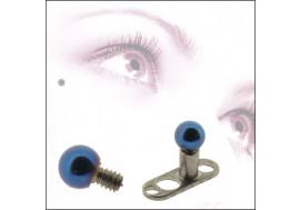 DESTOCKAGE Bille acier 2mm bleu foncé