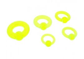 DESTOCKAGE anneau acrylique jaune