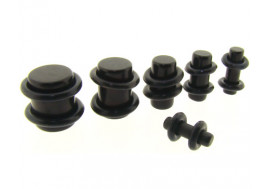 Piercing plug acrylique noir