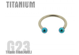 fer a cheval titane turquoise 2.5mm
