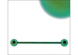 Piercing indus acier anodisé vert