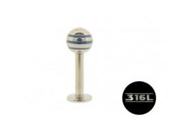 acier bille bleue 5mm