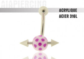 DESTOCKAGE Piercing nombril acrylique barre transversale