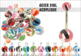 acrylique strié