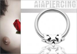 Piercing anneau XXX : 1,6mmx12mm