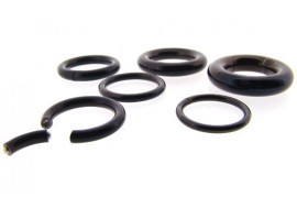 Piercing Anneau segment noir- Joncs de 1.6 à 5mm