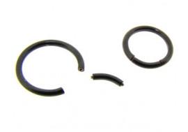 Piercing Anneau segment noir- Jonc de 1.2mm
