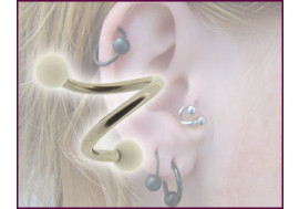 Piercing spirale bille blanche