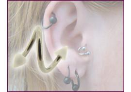 Piercing Spirale spike blanc