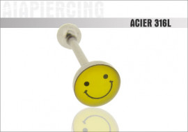 Piercing langue logo Smiley