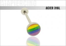 Piercing langue logo Pride