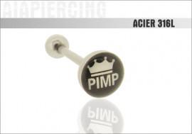 Piercing langue logo Pimp