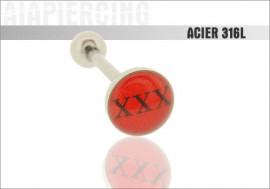 Piercing langue logo xxx