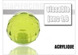 Piercing accessoire bille disco vert