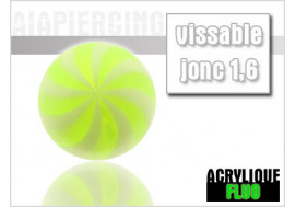 Accessoire piercing bille spirale vert
