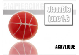 Accessoire piercing bille acrylique ballon rouge