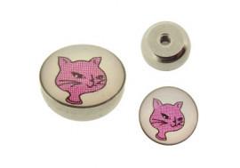 Piercing accessoire  Chat rose