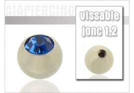 Bille cristal bleu foncé 1.2mm