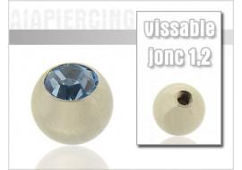 Bille cristal bleu clair 1.2mm