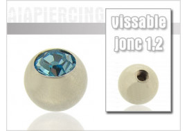 Bille cristal turquoise 1.2mm