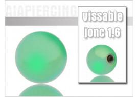 Accessoire piercing Bille en acier chirurgical verte 1.6mm