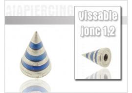 Accessoire Spike acier rayé bleu1,2mm