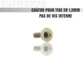 Piercing accessoire Châton bille1,2mm