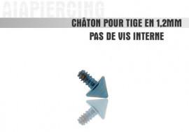 Piercing accessoire Châton pointe bleue