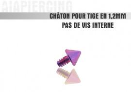 Piercing accessoire Châton pointe violette