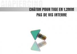 Piercing accessoire Châton pointe verte