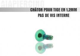 Piercing accessoire Châton bille verte