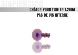 Piercing accessoire Châton bille violette