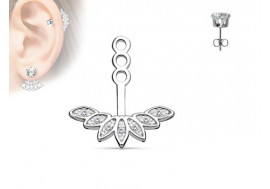 Piercing oreille Ear Cuff lotus