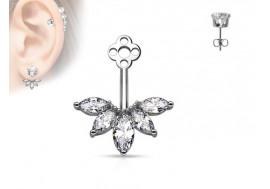 Piercing oreille Ear Cuff fleur de lotus