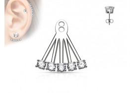 Piercing oreille Ear Cuff 5 stass