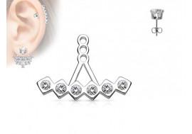 Piercing oreille Ear Cuff triangles