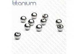 Piercing accessoire bille titane 1,2mm