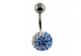 Piercing swarovki yin yang bleu