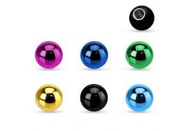 Accessoire piercing bille anodisé 1.2mm