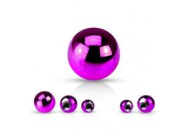 Accessoire piercing bille anodisée violette