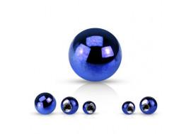 Accessoire piercing bille anodisée bleu