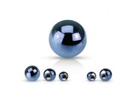 Accessoire piercing bille anodisée bleu claire