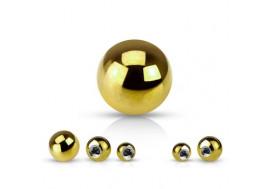 Accessoire piercing bille anodisée or jaune