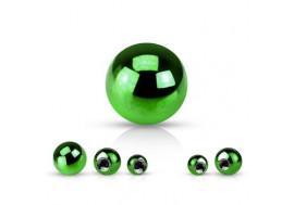 Accessoire piercing bille anodisée verte