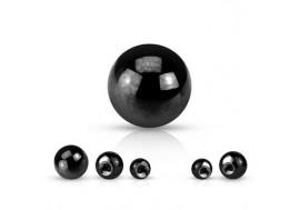 Accessoire piercing bille anodisée noire