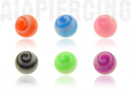 Piercing Accessoire acrylique tourbillon 3mm