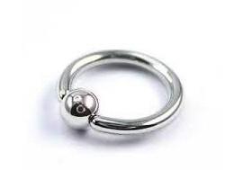 Piercing anneau BCR classique bille clipsée- 1,2mm