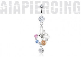 Nombril Papillon multi-strass