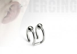 Faux piercing BCR d'oreilles - double